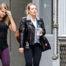 Hilary Duff – Leaves a gym in New York - 454 x 681