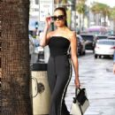 Olivia Culpo on her way to dinner in Santa Monica