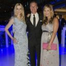 (L-R) Tanja Buelter, David Coulthard and Verena Wriedt attend the presentation of the new 'S-Klasse' at Mercedes Welt on June 13, 2013 in Berlin, Germany