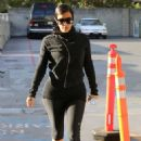 Kim Kardashian Arriving At Barrys Bootcamp In La