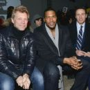 Jon Bon Jovi, Michael Strahan & Chris Cuomo attend the Kenneth Cole collection fashion show on February 10, 2014 in NYC - 454 x 368