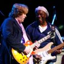 Guitarist Mick Taylor of The Rolling Stones and Buddy Guy perform live during The Experience Hendrix Tour on October 17th, 2007 - 405 x 594