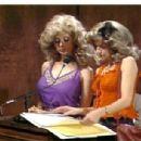 Jan with Rosanna Arquette on SNL