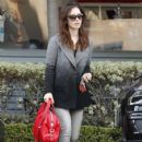 Lily Collins is spotted out doing some shopping in West Hollywood, California on January 7, 2016