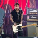 Johnny Depp is seen performing with his band Hollywood Vampires at 'Jimmy Kimmel Live' in Los Angeles, California on June 13, 2019 - 454 x 564
