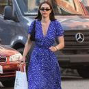 Amelia Hamlin in Blue Dress at Nail Design in Beverly Hills - 454 x 681