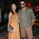 Cara Santana and Jessie Metcalfe attend the Misson show during Milan Menswear Fashion Week Spring Summer 2015 on June 22, 2014 in Milan, Italy