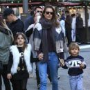 Alessandra Ambrosio Takes Her Kids to the Santa House at The Grove - 446 x 600