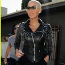 Amber Rose Visits the Curve Boutique on Robertson Boulevard in Los Angeles, California - March 16, 2010