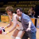 Director Kent Alterman (right) shows Will Ferrell (left) some sweet moves on the set of New Line Cinema's comedy, SEMI-PRO. Photo Credit: Frank Masi/New Line Cinema - 454 x 303