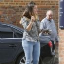 Kelly Brook Wearing Jeans While Out In London