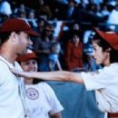 Rosie O'Donnell as Doris Murphy, Tom Hanks as Jimmy Dugan and Madonna as Mae Mordabito in A League of Their Own (1992)