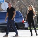 Actor Dominic Purcell cozies up to a mystery girl after enjoying lunch with her at Granville in Studio City, California on January 14, 2015 - 454 x 380