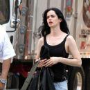 Krysten Ritter – On set of 'Jessica Jones' in New York - 454 x 673