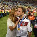 Mario Götze and Ann-Kathrin Kiss World Cup Final 2014 - 454 x 483