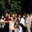 Brian Austin Green, Jason Priestley, Jennie Garth, Luke Perry, Tiffani Thiessen, Tori Spelling, Ian Ziering, Kathleen Robertson and Jamie Walters in Beverly Hills, 90210 (Season Six) (1996)