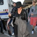Chrissy Teigen arrives at Lax January 23,2015