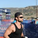 Actor Chace Crawford participates in the Nautica Malibu Triathlon at Zuma beach on September 20, 2015 in Malibu, California - 442 x 600