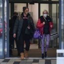 Denise Van Outen – With Matt Evers seen leaving dancing on ice rehearsals in London - 454 x 375