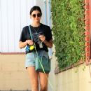 Lucy Hale – Picks up her dog Elvis from a dog hotel in Studio City