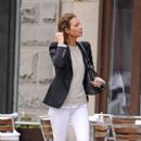 Christy Turlington: out in TriBeCa