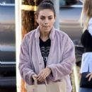 Mila Kunis in Purple Jacket – Shopping in Studio City