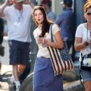 Ashley Greene on the set of 'CBGB' in Georgia (July 2)