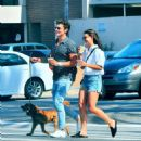 July 25, 2017 - Danielle Campbell and Gregg Sulkin out and about in Los Angeles, CA - 454 x 487