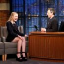 Dakota Fanning on 'Late Night with Seth Meyers' in New York City