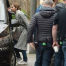 Jenna Louise Coleman and Sophie Kennedy-Clarke – Filming 'The Cry' in Glasgow
