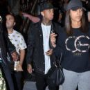 Tyga made his way through Sydney airport, being mobbed by fans ahead of his tour stop in Sydney, Australia on April 9, 2016 - 424 x 600