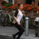 Amber Heard: running through the streets of New York City