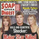 Winsor Harmon, Bobbie Eakes - Soap Opera Digest Magazine Cover [United States] (11 July 2000)