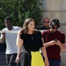 Ashley Graham in Mini Skirt – Leaving her hotel in Paris - 454 x 830