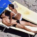 Nicole Scherzinger in White Bikini in Capri - 454 x 303