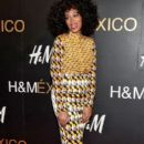 Solange Knowles performs as a DJ for the opening of the H & M