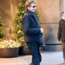 Barry Manilow seen leaving his hotel in New York City, New York on December 16, 2014