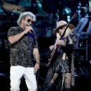 Orianthi and Sammy Hagar perform onstage during MusiCares Person of the Year honoring Aerosmith at West Hall at Los Angeles Convention Center on January 24, 2020 in Los Angeles, California - 426 x 600