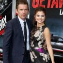 Selena Gomez & Ethan Hawke at The Getaway premiere at The Regency Village Theatre in Westwood, California on August 26 - 454 x 649