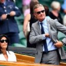 Wimbledon 2019: David Coulthard and glamorous wife Karen put on a stylish display as they take their places in Centre Court's Royal Box - 454 x 277