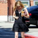 Emma Roberts – Seen at Sarbucks In Brentwood