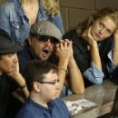 Leonardo DiCaprio, Lukas Haas and Toni Garrn showed up at the 2013 US Open Tennis Championship in New York City yesterday (September 3) - 454 x 363