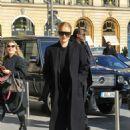 Rosie Huntington Whiteley – Arriving at Gare du Nord in Paris