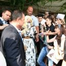 Lady Gaga: arriving at Sofia Airport in Bulgaria