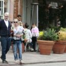 .Pink Alecia Beth Moore and daughter Willow have breakfast with a friend in Malibu