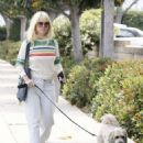 Alice Eve walks her dog in Los Angeles - 454 x 592