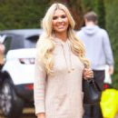 Christine McGuinness in Mini Dress – Leaves a photoshoot in Essex