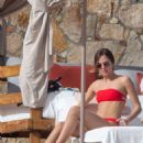 Tatiana Dieteman in Red Bikini on vacationing in Mexico - 454 x 706