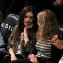 Lily Collins at the Lakers game at Staples Center in Los Angeles