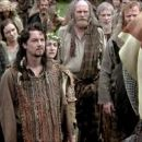 Julie Austin and Tommy Flanagan as Morrison and Mrs. Morrison, Sean McGinley as MacClannough, Gerda Stevenson as Mother MacClannough, Catherine McCormack as Murron MacClannough and James Cosmo as Campbell in Braveheart (1995)
